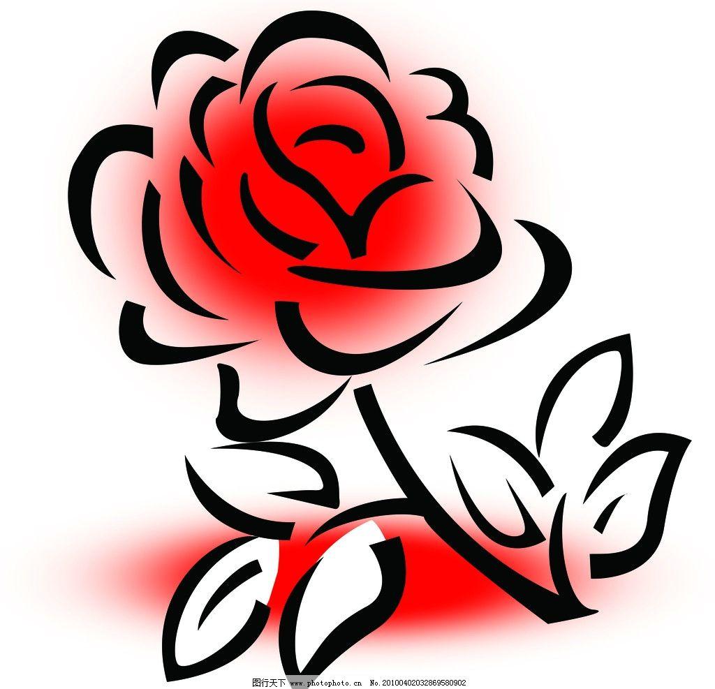 玫瑰 花 一支玫瑰花 风景 psd分层素材 源文件 300dpi psd