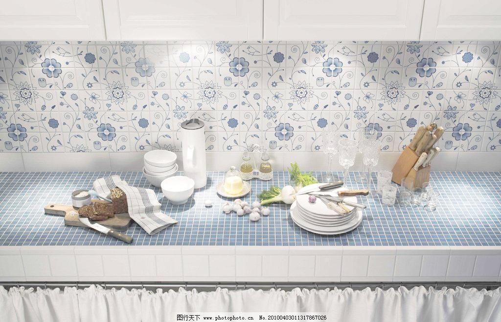 厨房样板间瓷砖铺贴效果图