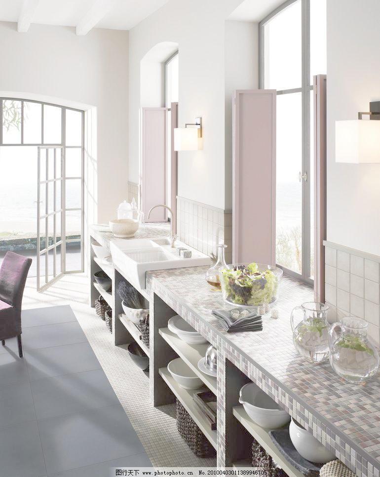 厨房样板间瓷砖铺贴效果图 建筑 室内      样板间 瓷砖 仿古砖 瓷片