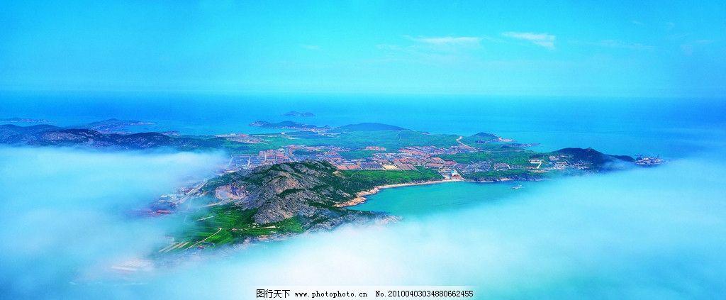 航拍山东半岛图片