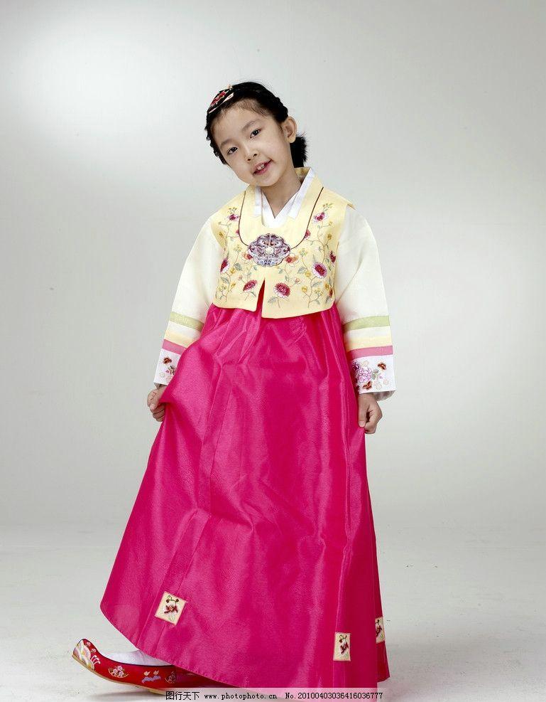 朝鲜服装小女孩 韩国 朝鲜族 写真 照片 儿童幼儿 摄影