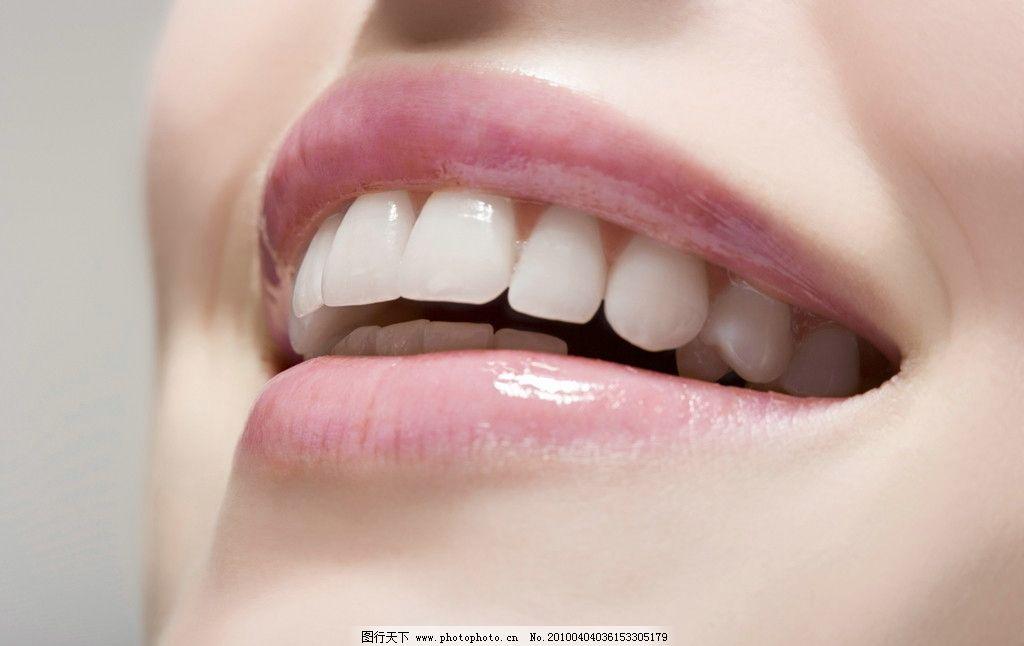 美女 美容 化妆 时尚 国外美女 嘴巴 嘴唇 口红 牙齿 高清图片素材