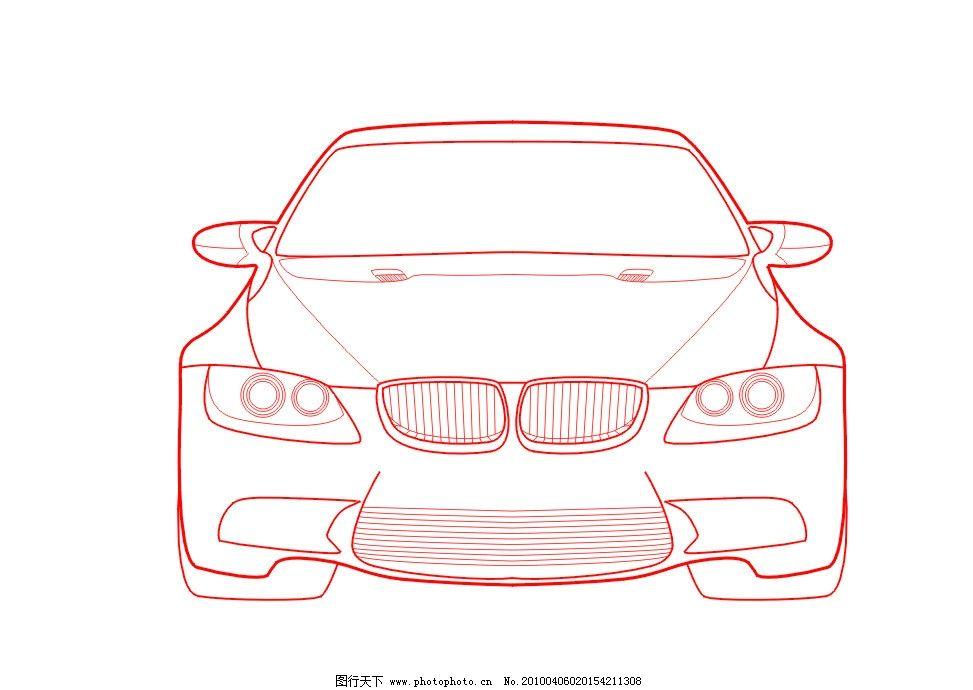 矢量线条汽车 cdr格式图片