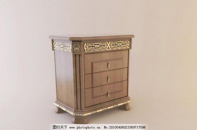精致欧式家具床头柜图片
