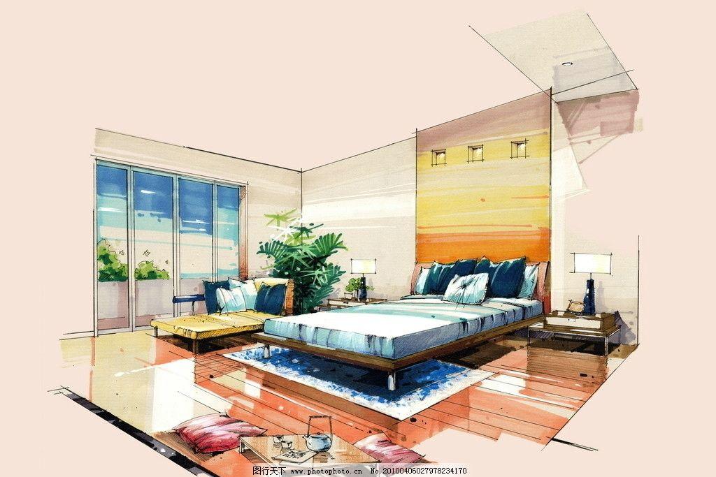 手绘室内效果图 手绘效果图 设计 手绘        室内设计 环境设计