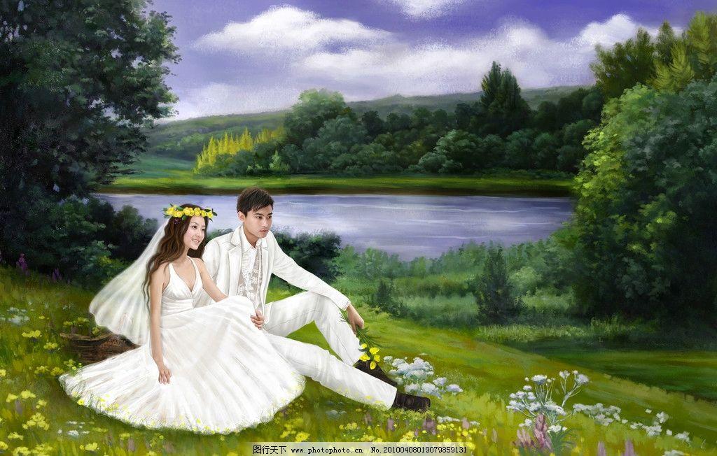 另类 婚纱 摄影 时尚 几米 情侣 油画 水彩 绘画书法 文化艺术 设计