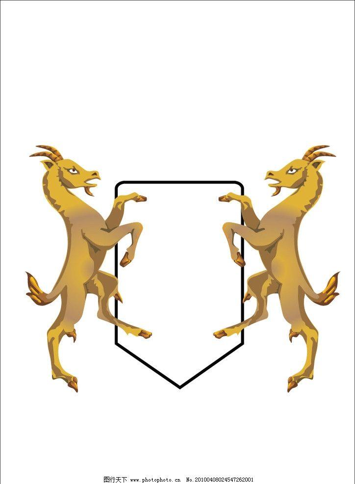 公羊 英式 边框 贵族 高雅 典雅 羊 家禽家畜 生物世界 矢量 ai