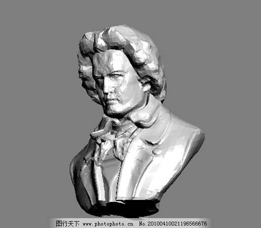精致欧式家具软装饰品莫扎特雕塑图片