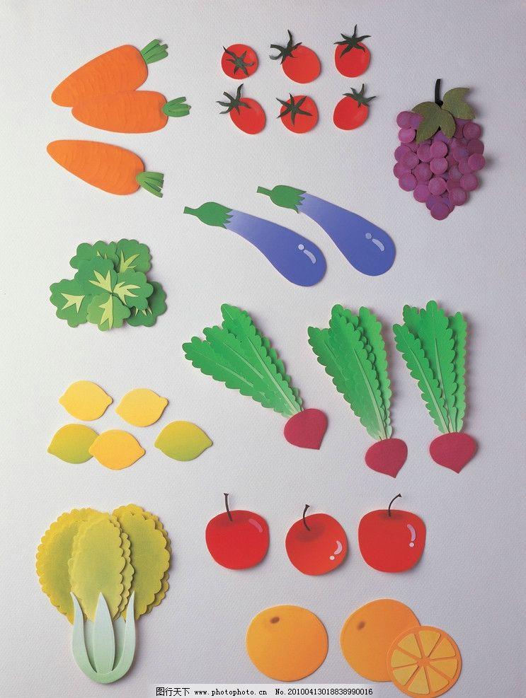 水果剪纸图案大全步骤图片