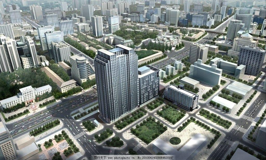 商业街/城市商业街建筑效果图图片