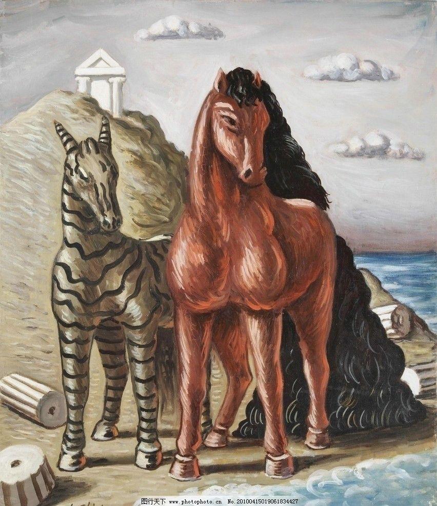 油画动物图片