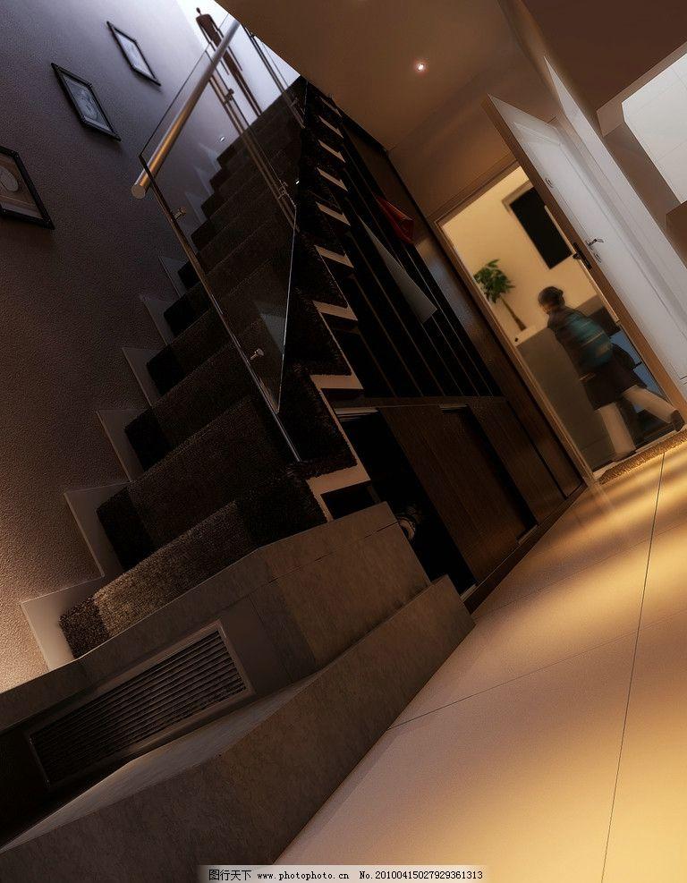 跃层公寓方案效果图 跃层 公寓 家装 灯光        楼梯 设计 地毯