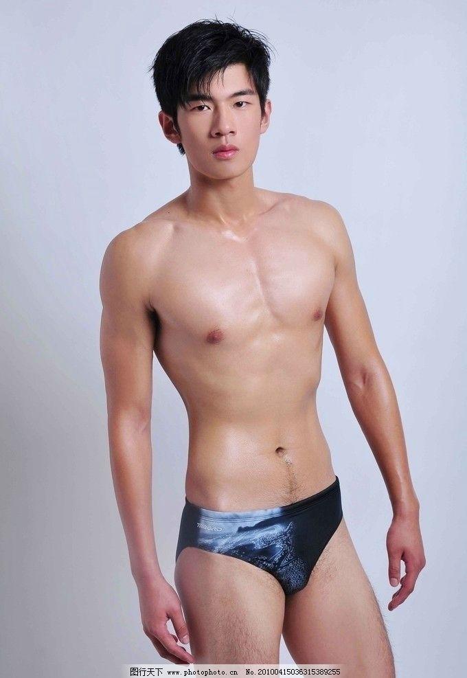 90后帅气的模特 肌肉 帅哥 男人 三角裤 人物摄影
