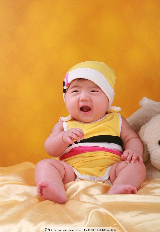 可爱宝宝 百天照 婴儿