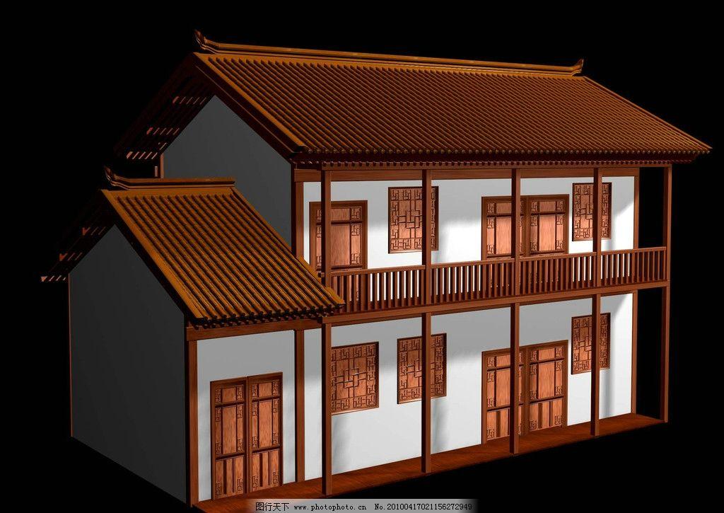 古建筑 效果图 建筑设计 建筑效果图 单体建筑 鸟瞰图 仿古建筑