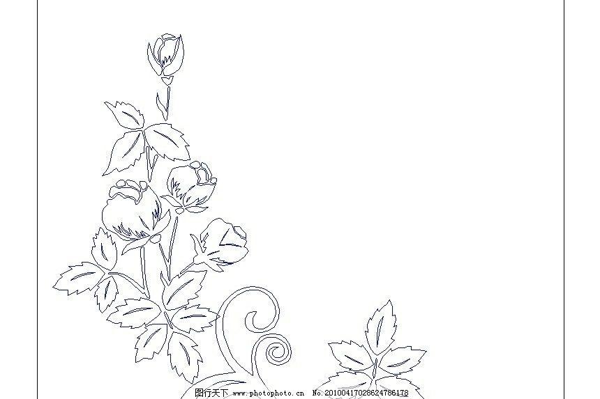 边框简笔画手绘花