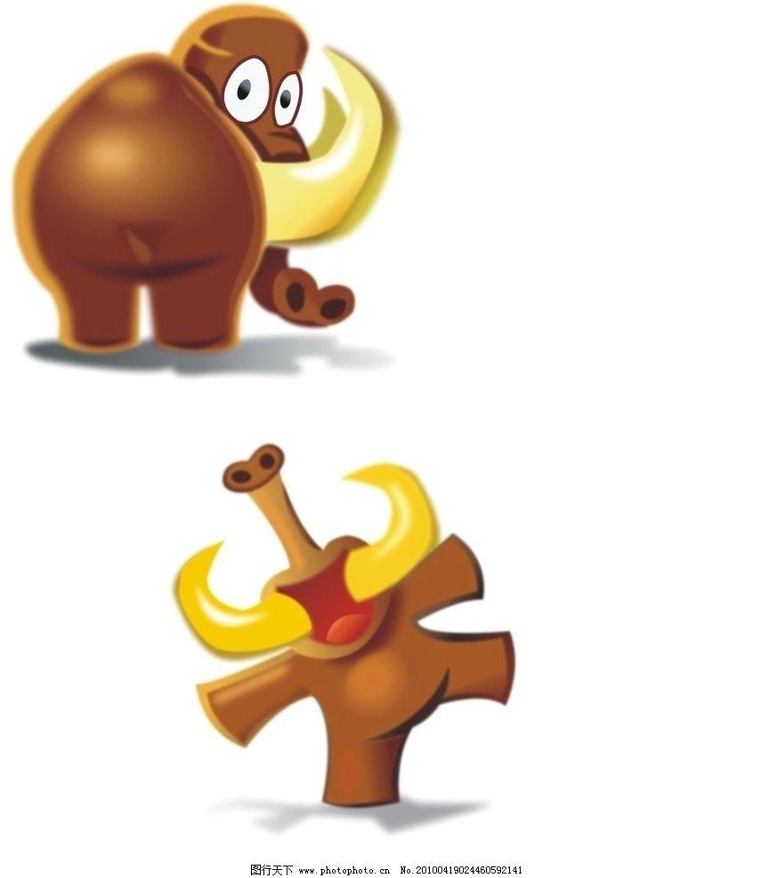 顽皮小象 大象 鼻子 牛角 动物 野生动物 眼睛 动画 素材 生物世界