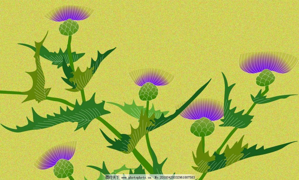 花枝绿叶 底纹 花纹 装饰 背景 修饰 成 花朵 线型 平面素材