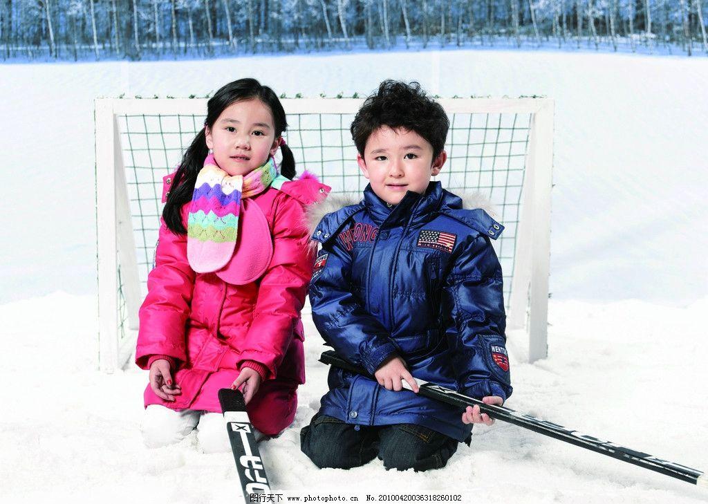 儿童 儿童摄影 模特 儿童服装 羽绒服 女孩 男孩 冬天 婚纱摄影 人物
