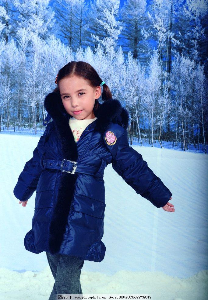儿童 儿童摄影 模特 儿童服装 羽绒服 女孩 冬天 婚纱摄影 人物摄影