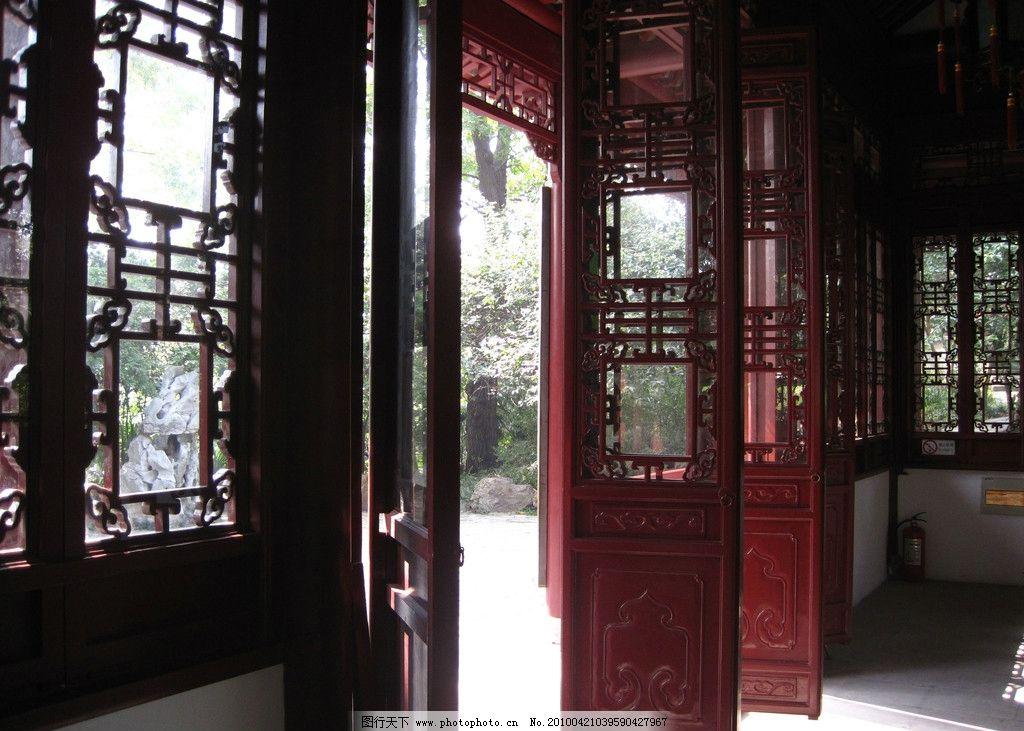 风景 中国风 西湖 扬州 广告素材 庭院 中国红 宫庭 大红门 古代建筑