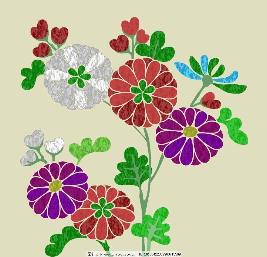 一枝花 底纹 花纹 装饰 背景 修饰 点线 排列 构成 花朵