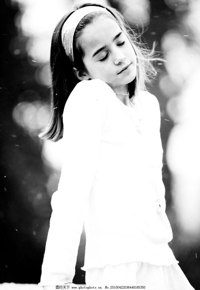 清纯可爱的英国女孩 西方 欧美 休闲 清新 纯真 大自然 女孩 黑白