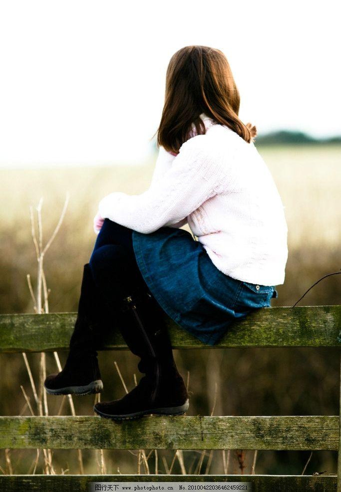清纯可爱的英国女孩 西方 欧美 休闲 清新 纯真 大自然 女孩 背影