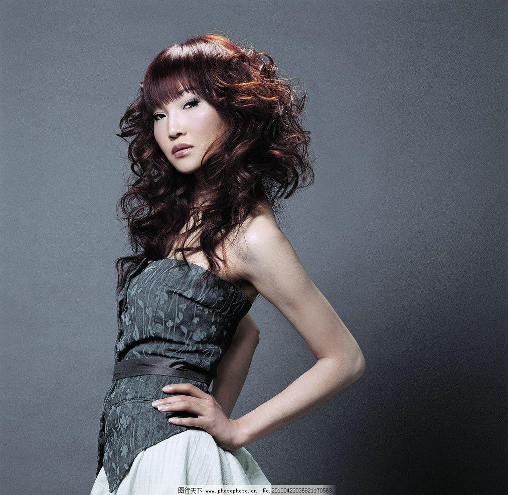 美发美女 美发 美女 发型 时尚 烫发 造型 模特 女性女人 人物图库