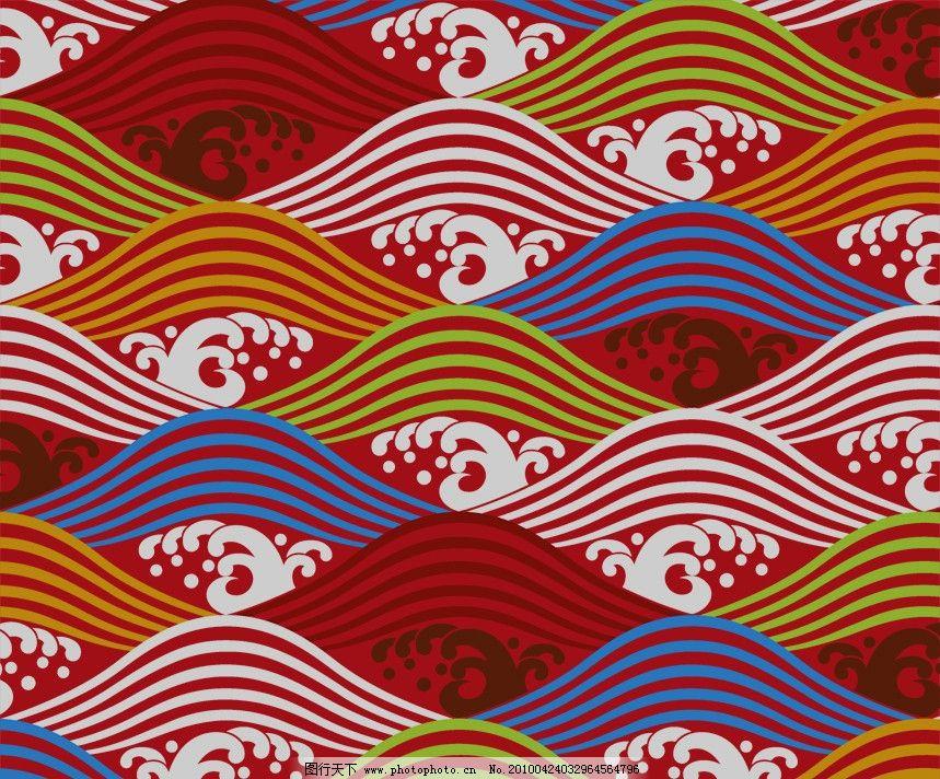 浪花 psd 底纹 花纹 装饰 素材 背景 修饰 点 线 排列 构成 花朵 线型