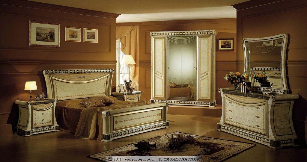 床现代 实木 3d vr 墙纸 欧式 奢华 挂画 室内摄影 建筑园林