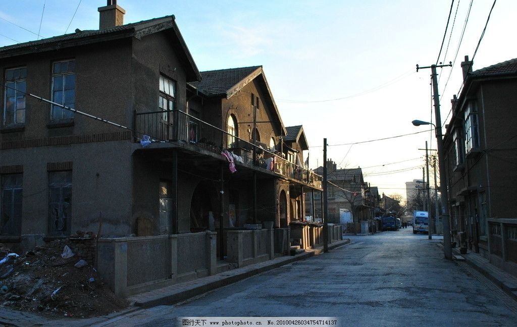 老街道建筑图片