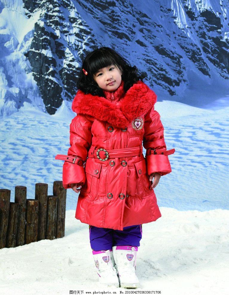 儿童 儿童摄影 女孩 羽绒服 雪 美女 儿童模特 山 雪山 婚纱摄影 人物