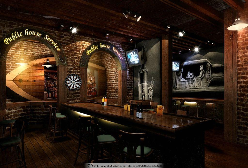 酒吧效果图 室内设计 装潢 娱乐场所 酒吧大厅 吧台设计 环境设计