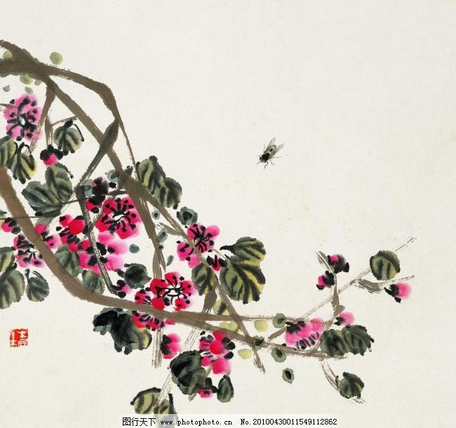 鲜花招峰 工笔画 国画 花鸟 绘画书法 蜜蜂 齐白石 山水 齐白石国画