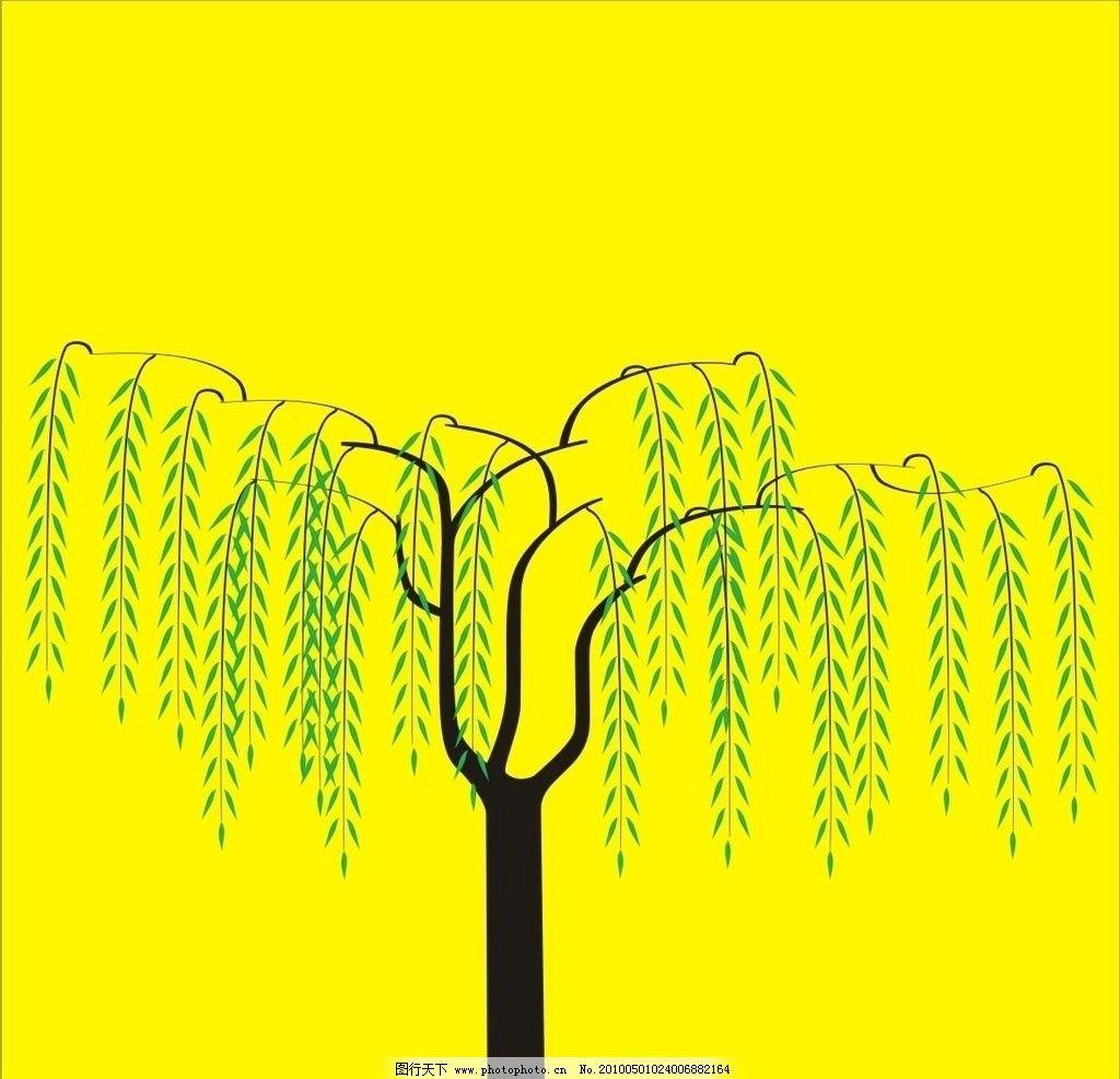 幼儿手工制作柳树贴画