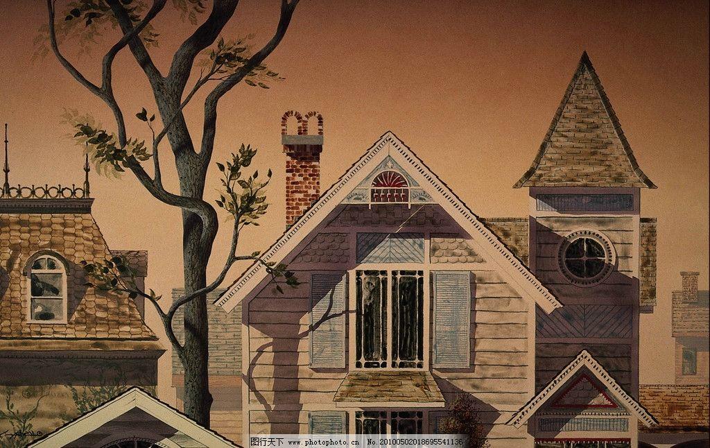 欧式房子动漫图片
