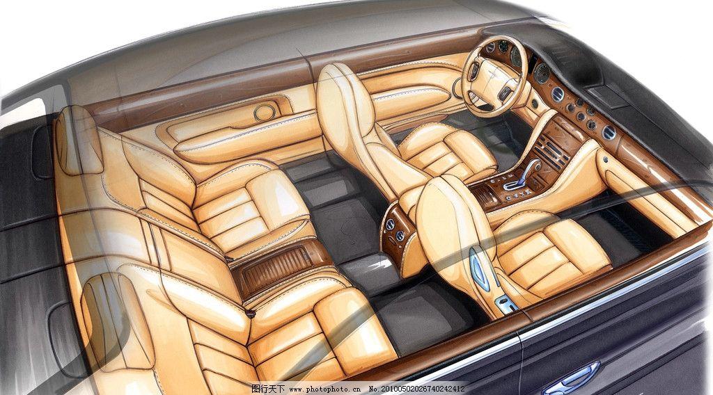 手绘汽车 手绘 仪表盘 方向盘 内饰 动力系统 座椅 动画 素描 马克笔