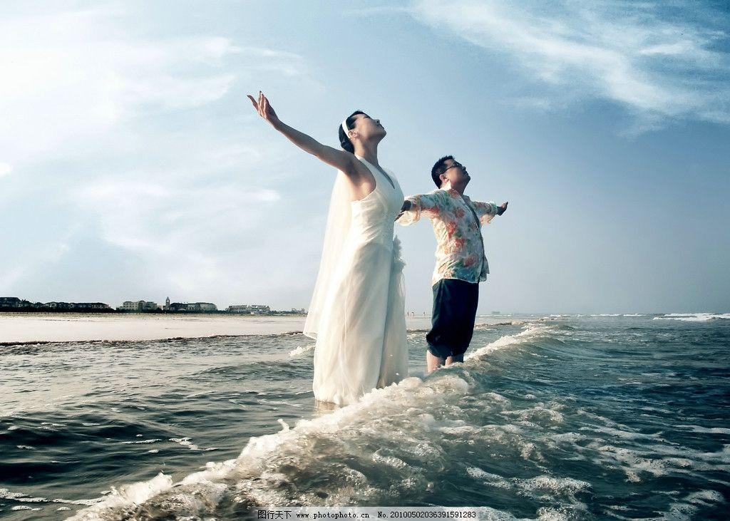婚纱照图片,婚纱摄影 大海 海边婚纱照 人物 风景-图