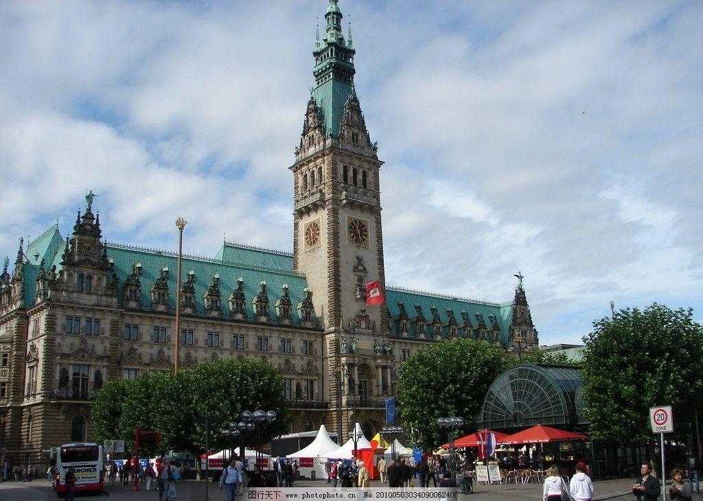 德国汉堡市政厅 摄影 德国风光 欧洲城市 欧洲风光 外国著名城市图片