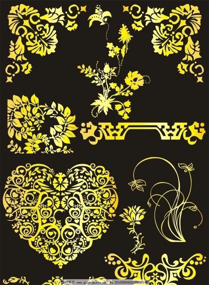 金色花边 花边 金色 底纹