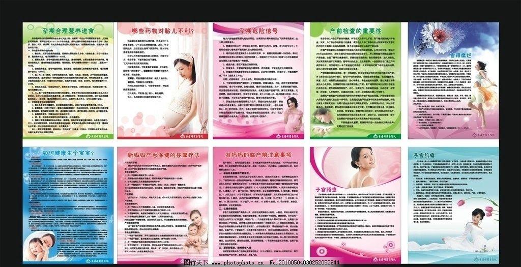 医院妇产科宣传展板图片