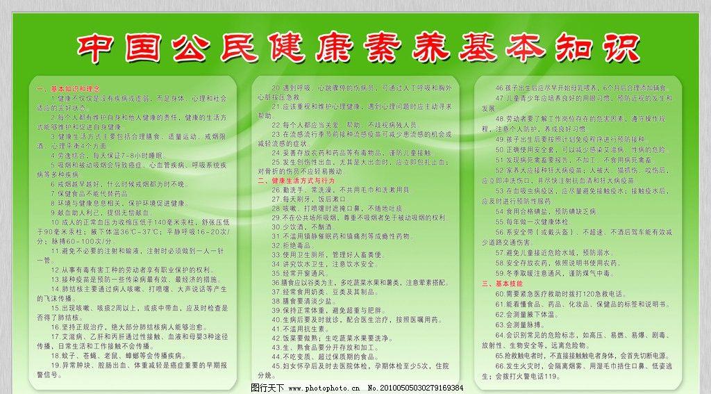 中国公民健康素养基本知识图片