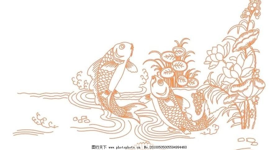 鲤鱼跳龙门图片免费下载 cdr 荷花 鲤鱼 鲤鱼跳龙门 生物世界 鱼类 鲤