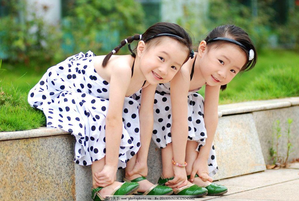 双胞胎 小女孩 儿童