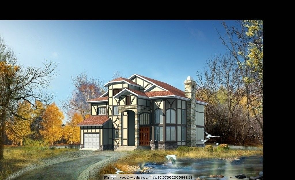 设计图库 环境设计 建筑设计  别墅效果图 小区效果图 新大厦 3d效果