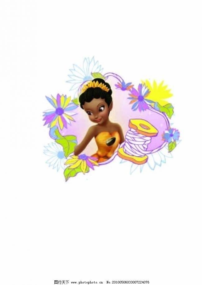 迪斯尼叮当(包含位图) 动画 儿童 花纹 卡通 可爱 其他矢量