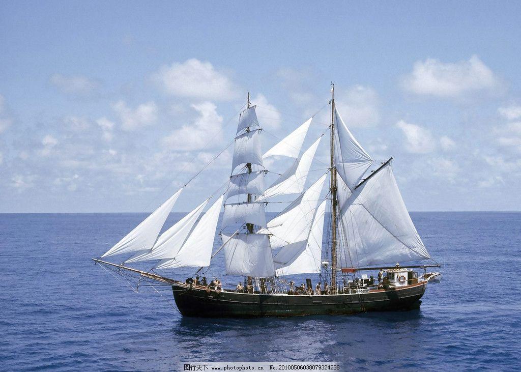 一帆 风顺-船 海洋 蓝天