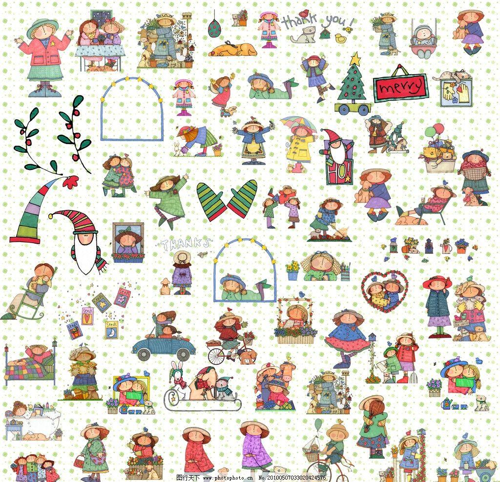 欧美风格可爱儿童集图片