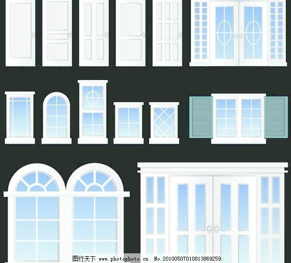 欧式门窗矢量素材模板下载
